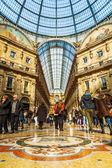 Galleria Vittorio Emanuele II in Milan, Italy, with unidentified people — Stock Photo
