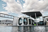 Marie-Elisabeth-Lüders-Haus as part of the Deutsche Bundestag at the river Spree in Berlin, Germany — Stock Photo
