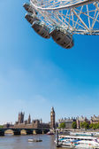 Famous London Eye in London, UK — Stock Photo