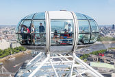 People in a capsule of the famous London Eye in London, UK — Stock Photo