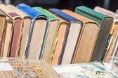 Vecchi libri di fila — Foto Stock