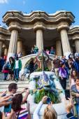 Park Guell from architect Antoni Gaudi in Barcelona, Spain — Stock Photo