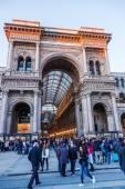 Galleria Vittorio Emanuele II in Milan, Italy, at dawn — Stock Photo
