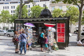 Traditional old kiosk at the Champs Elysees in Paris, France — Stock Photo