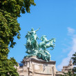 Equestrian sculptures on the Grand Palais in Paris, France — Stock Photo #55254575