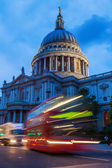 St Pauls Cathedral in London, UK, at dawn — Stock Photo