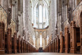 Inside view of the Cologne Cathedral in Cologne, Germany — Stock Photo