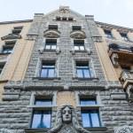 Art Nouveau facade of a historical building in Riga, Latvia — Stock Photo #55270407