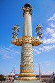 Historical street lantern on the Place de la Concorde in Paris, France — Zdjęcie stockowe