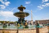 Fountain on the Place de la Concorde in Paris, France — Zdjęcie stockowe
