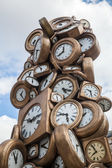 Clock sculpture in front of the Gare St. Lazare in Paris — Stock Photo