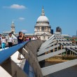 On the Millennium Bridge in London, UK — Stock Photo #55332569