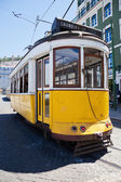 Traditional old tram in Lisbon, Portugal — Stock Photo