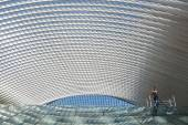Guillemins station in Liege, Belgium — Stock Photo