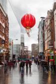 Rainy day in Chinatown, London, UK — Stock Photo