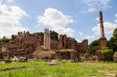 At the Forum Romanum in Rome, Italy — 图库照片