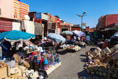 In the famous souks of Marrakech, Morocco — Stock Photo