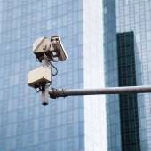 Video surveillance at the streets of a modern city — Стоковое фото