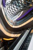 Modern architecture of the shopping mall My Zeil in Frankfurt am Main, Germany — Stock Photo