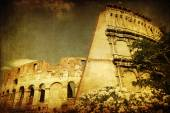 Vintage style picture of the colosseum in Rome, Italy — Foto de Stock