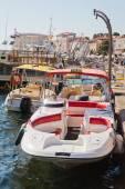 Taxi boat at the quay of Porec, Croatia — Stock Photo