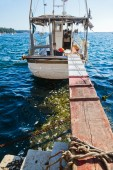 Fishing boat in the harbour of Porec, Croatia — Stock Photo