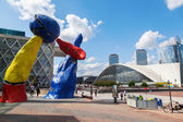 Modern sculptures in the financial district La Defense in Paris, France — Stock Photo