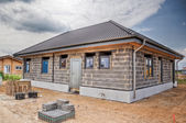 New construction of an one family house — Stock Photo