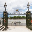 View from the Royal Naval College in Greenwich, London, over the river Thames — Stock Photo #56090139