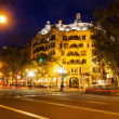 Casa Mila in Barcelona, Spain, at night — Stock Photo #56105903