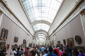 Inside of the famous Louvre Museum in Paris, France — Stock Photo