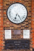 Shepherd Gate Clock at the Royal Greenwich Observatory in Greenwich, London, UK — Stock Photo