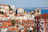 Rooftop view of Lisbon, Portugal — Stockfoto