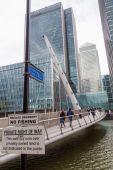 Canary Wharf in London, UK — Stock Photo