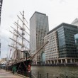 Canary Wharf in London, UK — Stock Photo #56142915