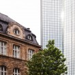 Old building and modern skyscraper in Frankfurt am Main, Germany — Stock Photo #56157673