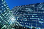 Facades of office buildings — Stock Photo