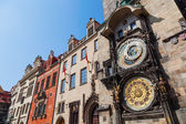 Historical tower of the historical town hall with the famous astronomical clock in the old town of Prague, Czechia — Stock Photo