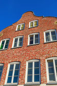 Gable of a typical Hanseatic house in Hamburg, Germany — Stock Photo