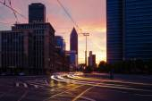 Cityscape of Frankfurt am Main in Germany after sunset — Stock Photo