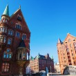 Old buildiings in the warehouse district of Hamburg, Germany — Stock Photo #56424395