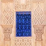 Ornamental framed window in Marrakech, Morocco — Stock Photo #56425383