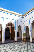 Inside of the Bahia Palace in Marrakesh, Morroco — Stock Photo