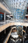 Inside view of the shopping mall MyZeil in Frankfurt am Main, Germany, designed by Massimiliano Fuksas — Stock Photo