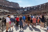 Inside view of the Colosseum in Rome, Italy. — Stock Photo