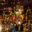 Arabic lanterns at an arabic market in the souks of Marrakech, Morocco — Stock Photo #56677787