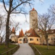 Medieval city wall of Rothenburg ob der Tauber in Germany — Stock Photo #56680205