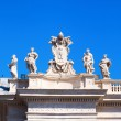Detail of the colonnades of the St Peters Square in Vatican City — Stock Photo #56717477