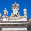Detail of the colonnades of the St Peters Square in Vatican City — Stock Photo #56719303