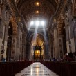 Inside view of the St. Peters Basilica in Rome, Italy — Stock Photo #56725921